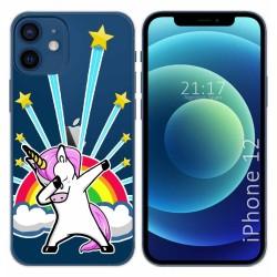 Funda Gel Transparente para Iphone 12 / 12 Pro (6.1) diseño Unicornio Dibujos