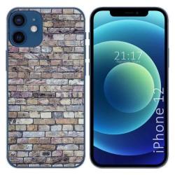 Funda Gel Tpu para Iphone 12 / 12 Pro (6.1) diseño Ladrillo 02 Dibujos