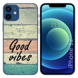 Funda Gel Tpu para Iphone 12 / 12 Pro (6.1) diseño Madera 01 Dibujos