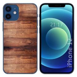 Funda Gel Tpu para Iphone 12 / 12 Pro (6.1) diseño Madera 02 Dibujos