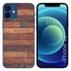 Funda Gel Tpu para Iphone 12 / 12 Pro (6.1) diseño Madera 03 Dibujos
