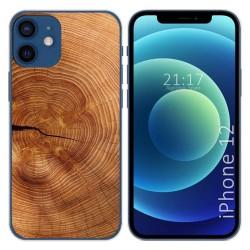 Funda Gel Tpu para Iphone 12 / 12 Pro (6.1) diseño Madera 04 Dibujos