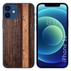 Funda Gel Tpu para Iphone 12 / 12 Pro (6.1) diseño Madera 05 Dibujos