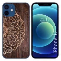 Funda Gel Tpu para Iphone 12 / 12 Pro (6.1) diseño Madera 06 Dibujos
