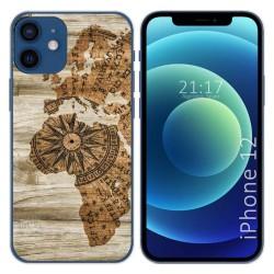 Funda Gel Tpu para Iphone 12 / 12 Pro (6.1) diseño Madera 07 Dibujos