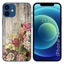 Funda Gel Tpu para Iphone 12 / 12 Pro (6.1) diseño Madera 08 Dibujos