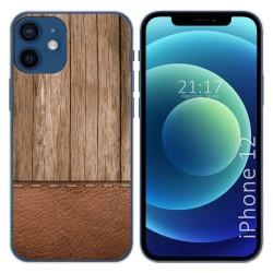 Funda Gel Tpu para Iphone 12 / 12 Pro (6.1) diseño Madera 09 Dibujos