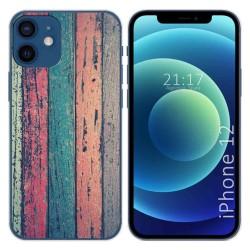 Funda Gel Tpu para Iphone 12 / 12 Pro (6.1) diseño Madera 10 Dibujos