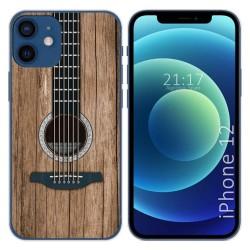 Funda Gel Tpu para Iphone 12 / 12 Pro (6.1) diseño Madera 11 Dibujos