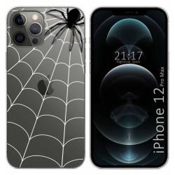 Funda Gel Transparente para Iphone 12 Pro Max (6.7) diseño Araña Dibujos