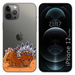 Funda Gel Transparente para Iphone 12 Pro Max (6.7) diseño Bufalo Dibujos