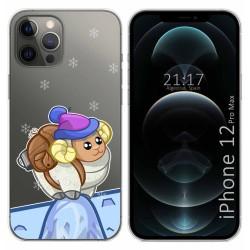 Funda Gel Transparente para Iphone 12 Pro Max (6.7) diseño Cabra Dibujos