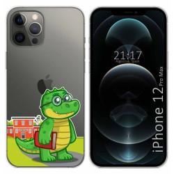 Funda Gel Transparente para Iphone 12 Pro Max (6.7) diseño Coco Dibujos