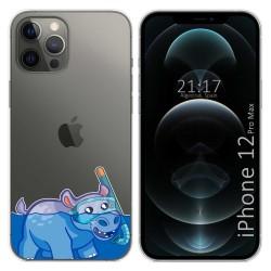 Funda Gel Transparente para Iphone 12 Pro Max (6.7) diseño Hipo Dibujos