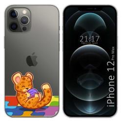Funda Gel Transparente para Iphone 12 Pro Max (6.7) diseño Leopardo Dibujos