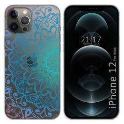 Funda Gel Transparente para Iphone 12 Pro Max (6.7) diseño Mandala Dibujos