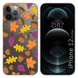 Funda Gel Transparente para Iphone 12 Pro Max (6.7) diseño Otoño Dibujos