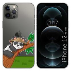 Funda Gel Transparente para Iphone 12 Pro Max (6.7) diseño Panda Dibujos