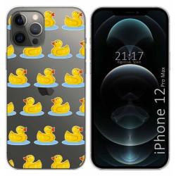 Funda Gel Transparente para Iphone 12 Pro Max (6.7) diseño Pato Dibujos