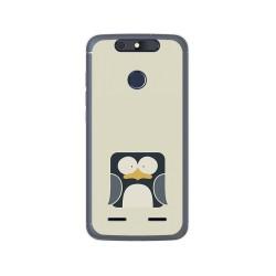 Funda Gel Tpu para Zte Blade V8 Lite Diseño Pingüino Dibujos