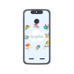 Funda Gel Tpu para Zte Blade V8 Lite Diseño Spring Birds Dibujos
