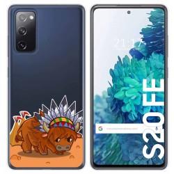 Funda Gel Transparente para Samsung Galaxy S20 FE diseño Bufalo Dibujos
