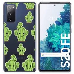 Funda Gel Transparente para Samsung Galaxy S20 FE diseño Cactus Dibujos
