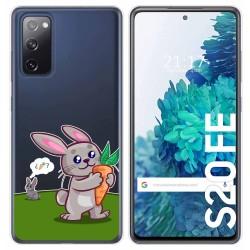 Funda Gel Transparente para Samsung Galaxy S20 FE diseño Conejo Dibujos