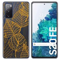 Funda Gel Transparente para Samsung Galaxy S20 FE diseño Hojas Dibujos