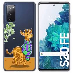 Funda Gel Transparente para Samsung Galaxy S20 FE diseño Jirafa Dibujos