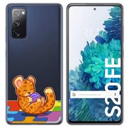 Funda Gel Transparente para Samsung Galaxy S20 FE diseño Leopardo Dibujos