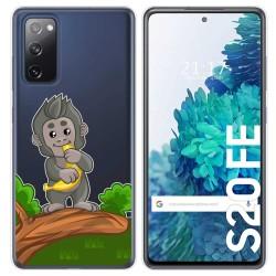 Funda Gel Transparente para Samsung Galaxy S20 FE diseño Mono Dibujos