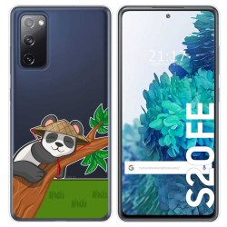 Funda Gel Transparente para Samsung Galaxy S20 FE diseño Panda Dibujos
