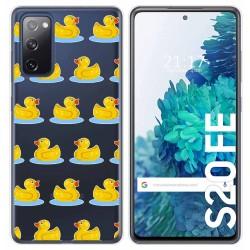 Funda Gel Transparente para Samsung Galaxy S20 FE diseño Pato Dibujos