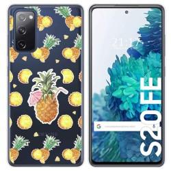 Funda Gel Transparente para Samsung Galaxy S20 FE diseño Piña Dibujos