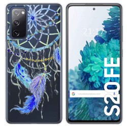 Funda Gel Transparente para Samsung Galaxy S20 FE diseño Plumas Dibujos