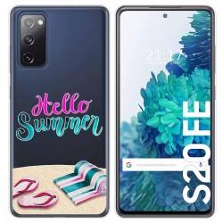 Funda Gel Transparente para Samsung Galaxy S20 FE diseño Summer Dibujos