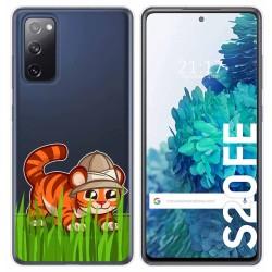 Funda Gel Transparente para Samsung Galaxy S20 FE diseño Tigre Dibujos