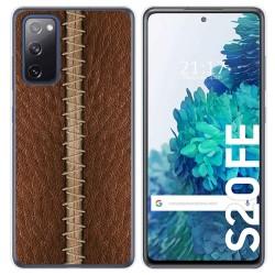 Funda Gel Tpu para Samsung Galaxy S20 FE diseño Cuero 01 Dibujos
