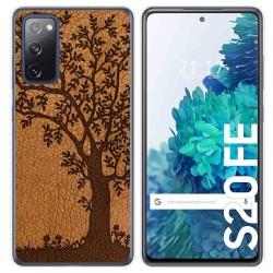 Funda Gel Tpu para Samsung Galaxy S20 FE diseño Cuero 03 Dibujos