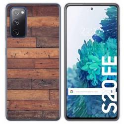 Funda Gel Tpu para Samsung Galaxy S20 FE diseño Madera 03 Dibujos
