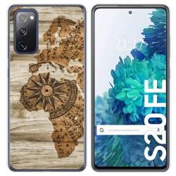 Funda Gel Tpu para Samsung Galaxy S20 FE diseño Madera 07 Dibujos