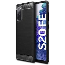 Funda Gel Tpu Tipo Carbon Negra para Samsung Galaxy S20 FE