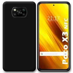 Funda Silicona Gel TPU Negra para Xiaomi POCO X3 NFC / X3 PRO