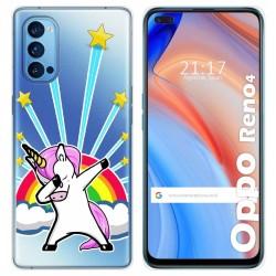 Funda Gel Transparente para Oppo Reno 4 5G diseño Unicornio Dibujos