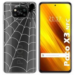 Funda Gel Transparente para Xiaomi POCO X3 NFC / X3 PRO diseño Araña Dibujos