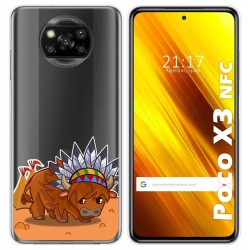 Funda Gel Transparente para Xiaomi POCO X3 NFC / X3 PRO diseño Bufalo Dibujos