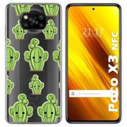 Funda Gel Transparente para Xiaomi POCO X3 NFC / X3 PRO diseño Cactus Dibujos