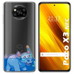 Funda Gel Transparente para Xiaomi POCO X3 NFC diseño Hipo Dibujos