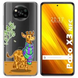 Funda Gel Transparente para Xiaomi POCO X3 NFC diseño Jirafa Dibujos